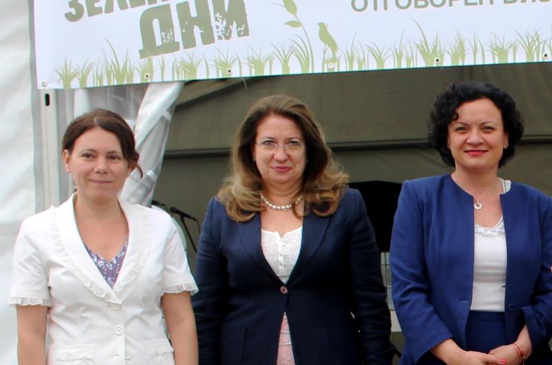 Елица Николова, съветник на президента по икономическо развитие, Ирена Георгиева, заместник-министър на туризма и министърът на околната среда и водите Ивелина Василева