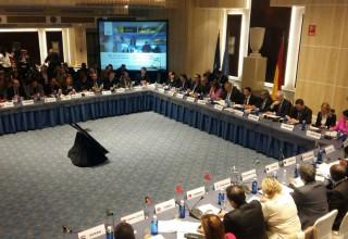 "Министър Ангелкова по време на срещата на високо ниво на тема ""Туризъм и сигурност"", организирана от СОТ"