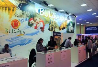 """Българският щанд на Международното туристическо изложение """"The Romanian Tourism Fair"""" (TTR) в Букурещ."""
