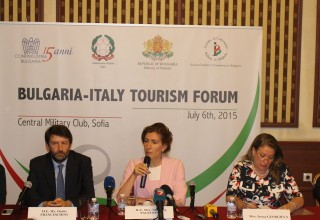 Minister Nikolina Angelkova and Minister Dario Franceschini initiated new tourist forum