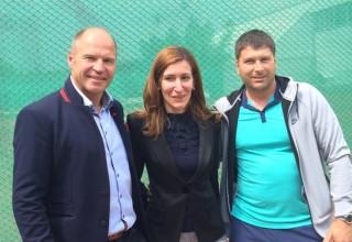 Марк Жирардели, Николина Ангелкова и Димитър Димитров (баща на Григор Димитров)