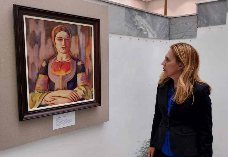 снимка от художествената галерия в Кюстендил