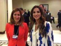 Министърът на туризма Николина Ангелкова заедно с кралицата на Йордания Рания Ал Абдулла.